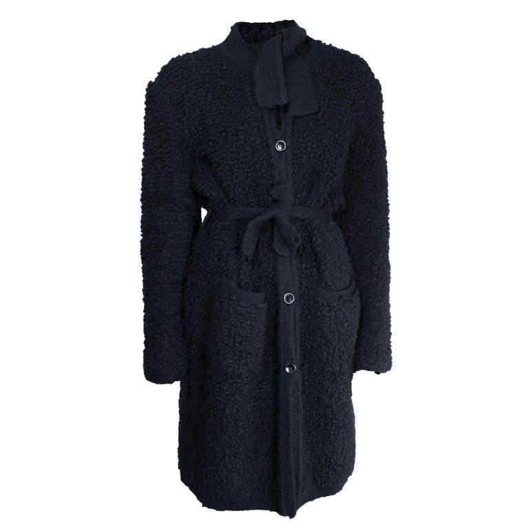 Sonia Rykiel Early knitted black wool coat, circa 1960s