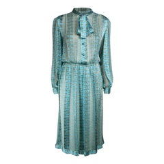 Jacques Heim blue silk chiffon dress, circa 1960s