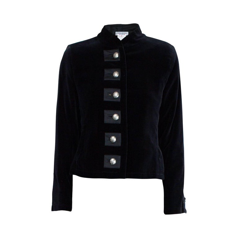 Yves Saint Laurent black evening bolero velvet jacket. circa 1990s