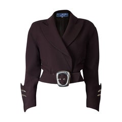 "Thierry Mugler ""Angel"" sculptural chocolate wool jacket, circa 1979"