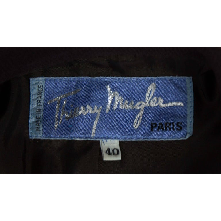 """Thierry Mugler """"Angel"""" sculptural chocolate wool jacket, circa 1979 For Sale 4"""