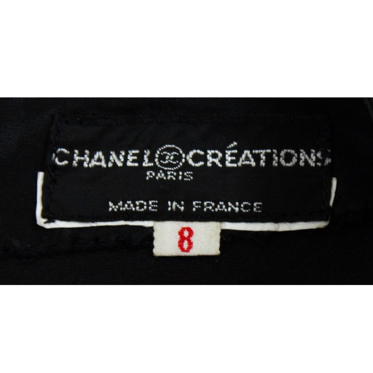Chanel silk little black dress, Circa 1970 For Sale 5