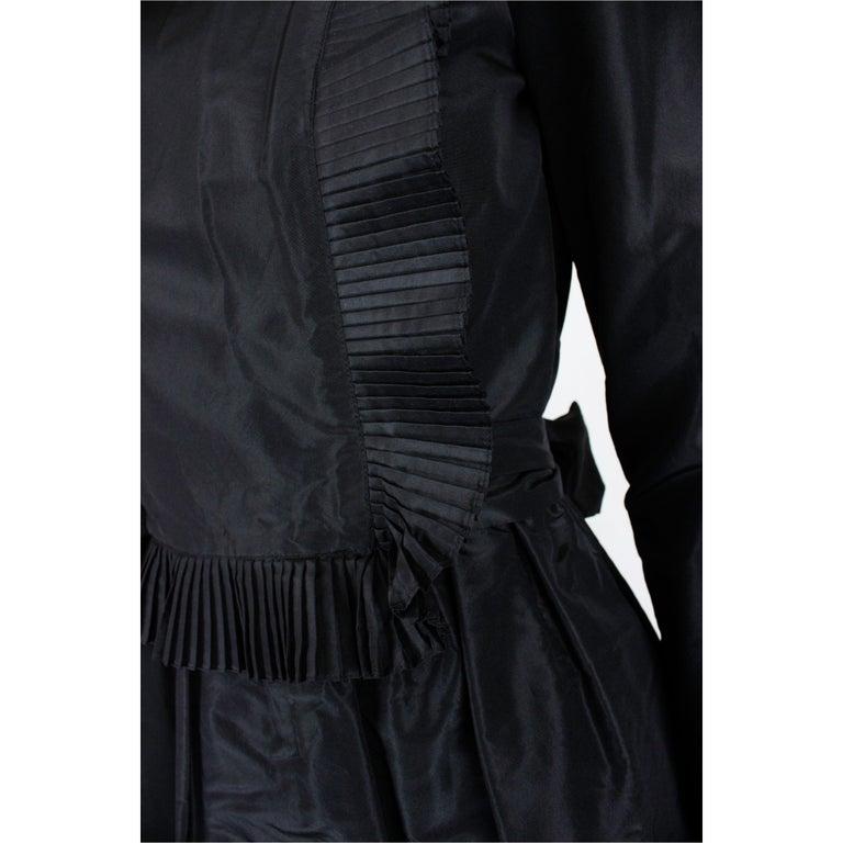 Chanel silk little black dress, Circa 1970 For Sale 1