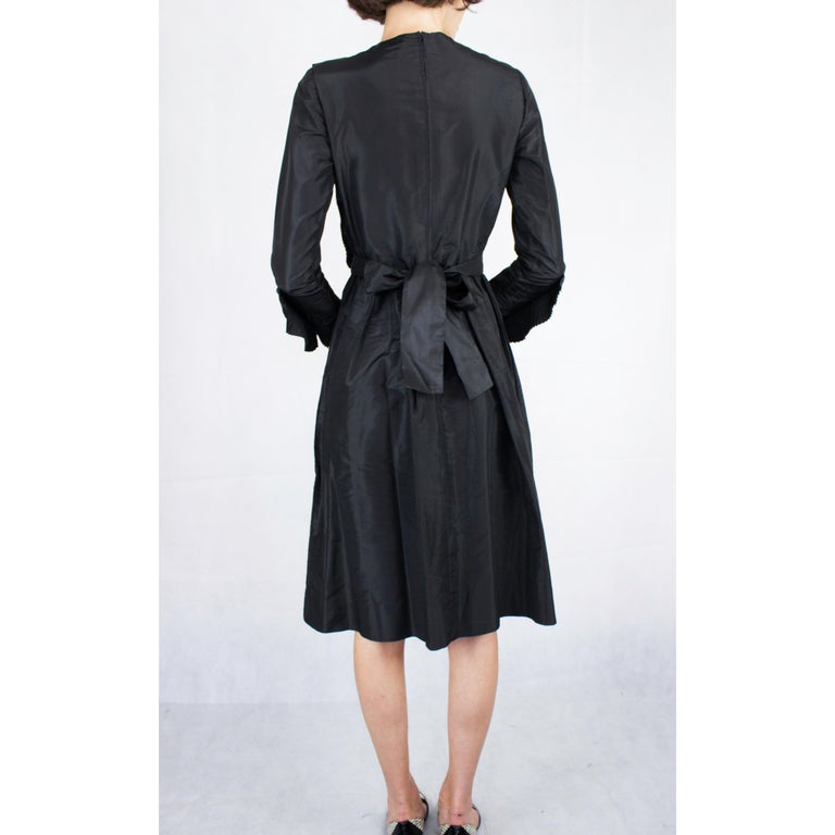 Chanel silk little black dress, Circa 1970 For Sale 2