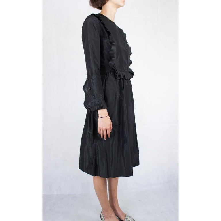 Women's Chanel silk little black dress, Circa 1970 For Sale