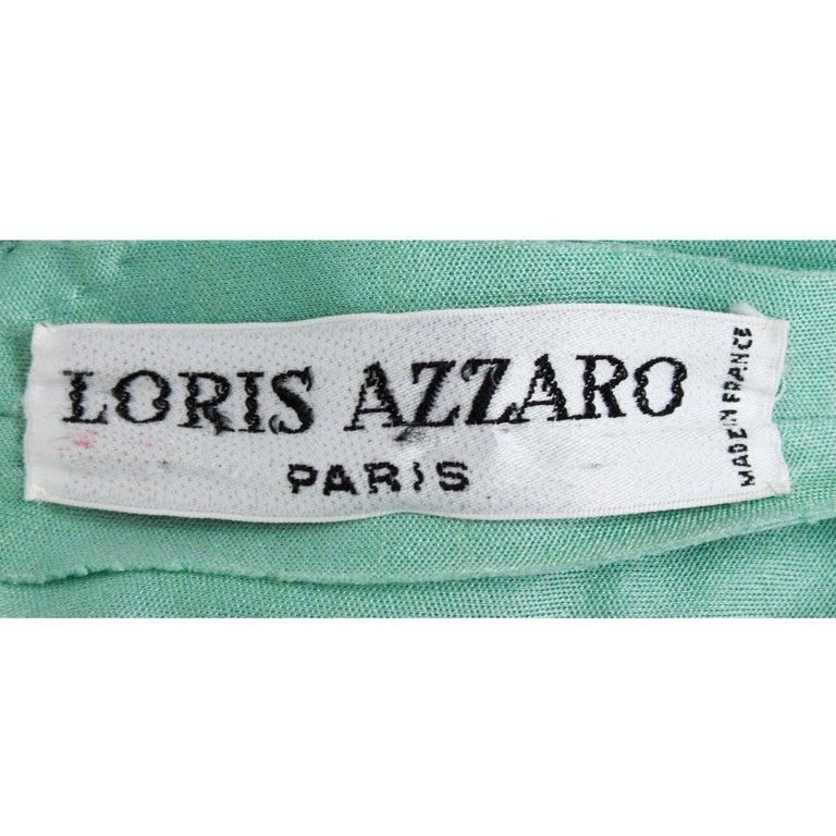 Loris Azzaro silk jersey couture diamanté adorned evening dress, circa 1970 For Sale 5
