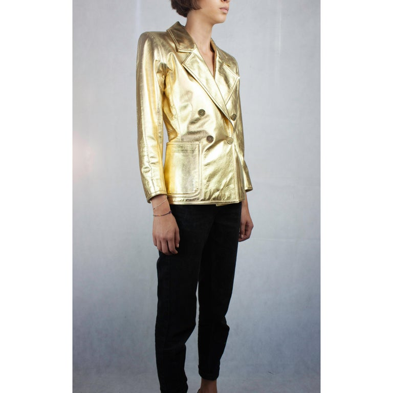 a71bda58f40 Yves Saint Laurent gold leather jacket. Circa 1970s In Excellent Condition  For Sale In London
