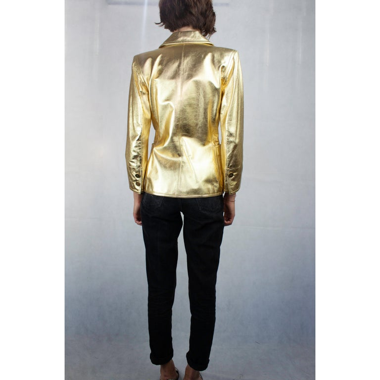 446a5109820 Yves Saint Laurent gold leather jacket. Circa 1970s For Sale at 1stdibs