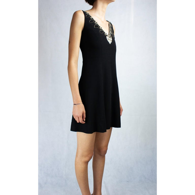 Christian Dior Celtic jewels Numbered crepe evening mini dress, circa 1994 In Excellent Condition For Sale In London, GB