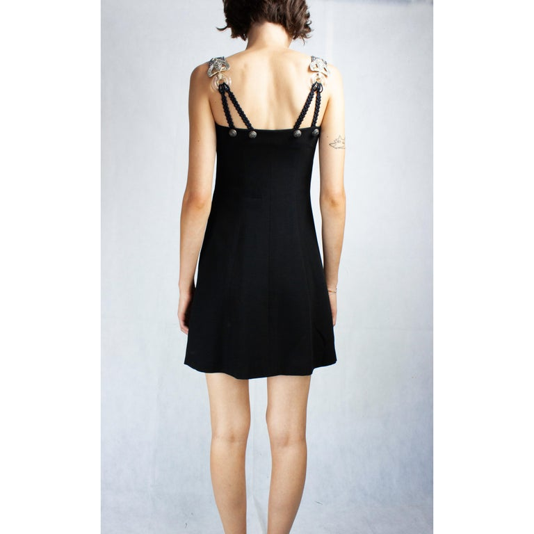 Women's Christian Dior Celtic jewels Numbered crepe evening mini dress, circa 1994 For Sale
