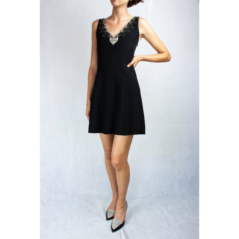 Christian Dior Celtic jewels Numbered crepe evening mini dress, circa 1994 For Sale 1