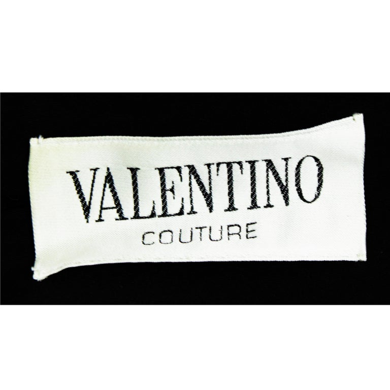 Valentino silk-wool  jersey couture cocktail dress. circa 1970s For Sale 7