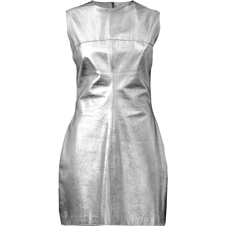 Paco Rabanne leather dress, Circa 1966