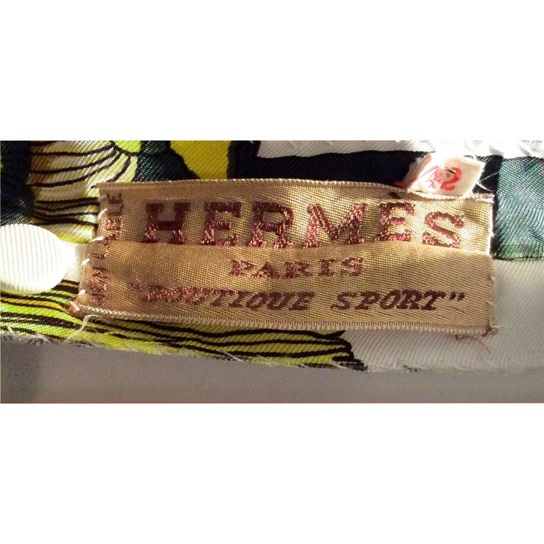 Women's Hermès silk print mini dress. circa 1960