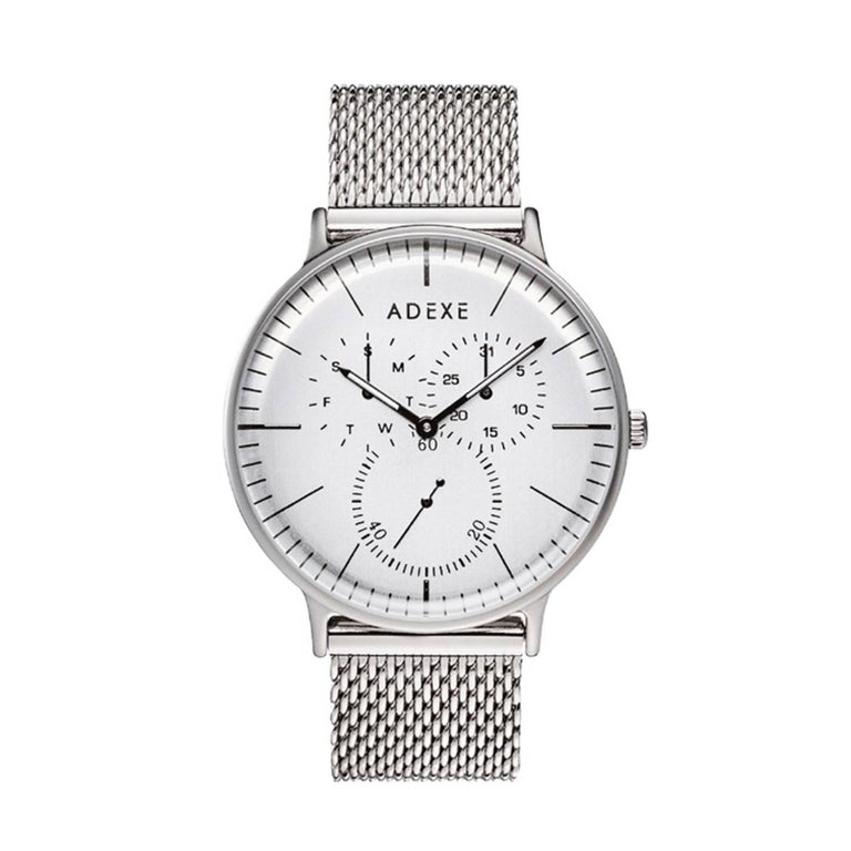 Adexe stainless steel they minimal silver wristwatch for for Minimal art wrist watch