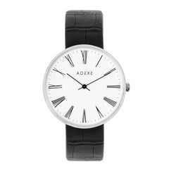 ADEXE Watches Sistine Black & White Convex Dial Wrist Watch