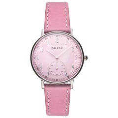 ADEXE Stainless Steel Petite Pink Quartz Wristwatch