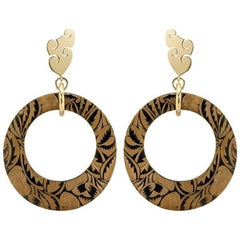 Fouché Horn Africa Engraved Earrings