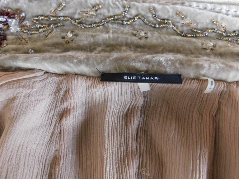 138749b4d Elie Tahari Silk Velvet Jacket with Embroidered Details