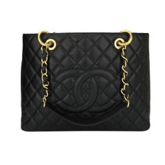 Chanel Black Caviar Grand Shopping Tote with Gold Hardware, 2010