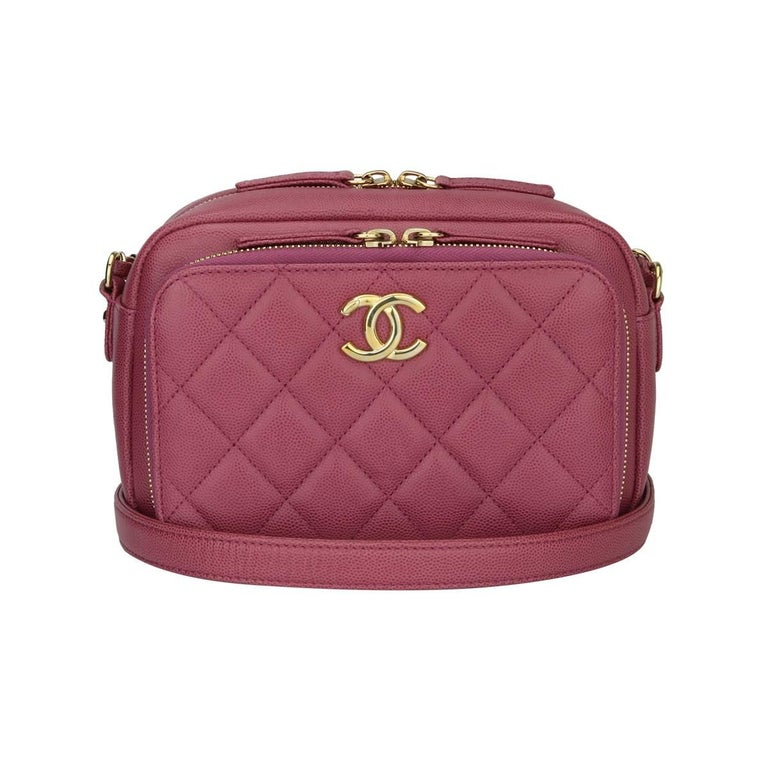 326761d8872f CHANEL Business Affinity Camera Case Pink Caviar with Gold Hardware 2016  For Sale