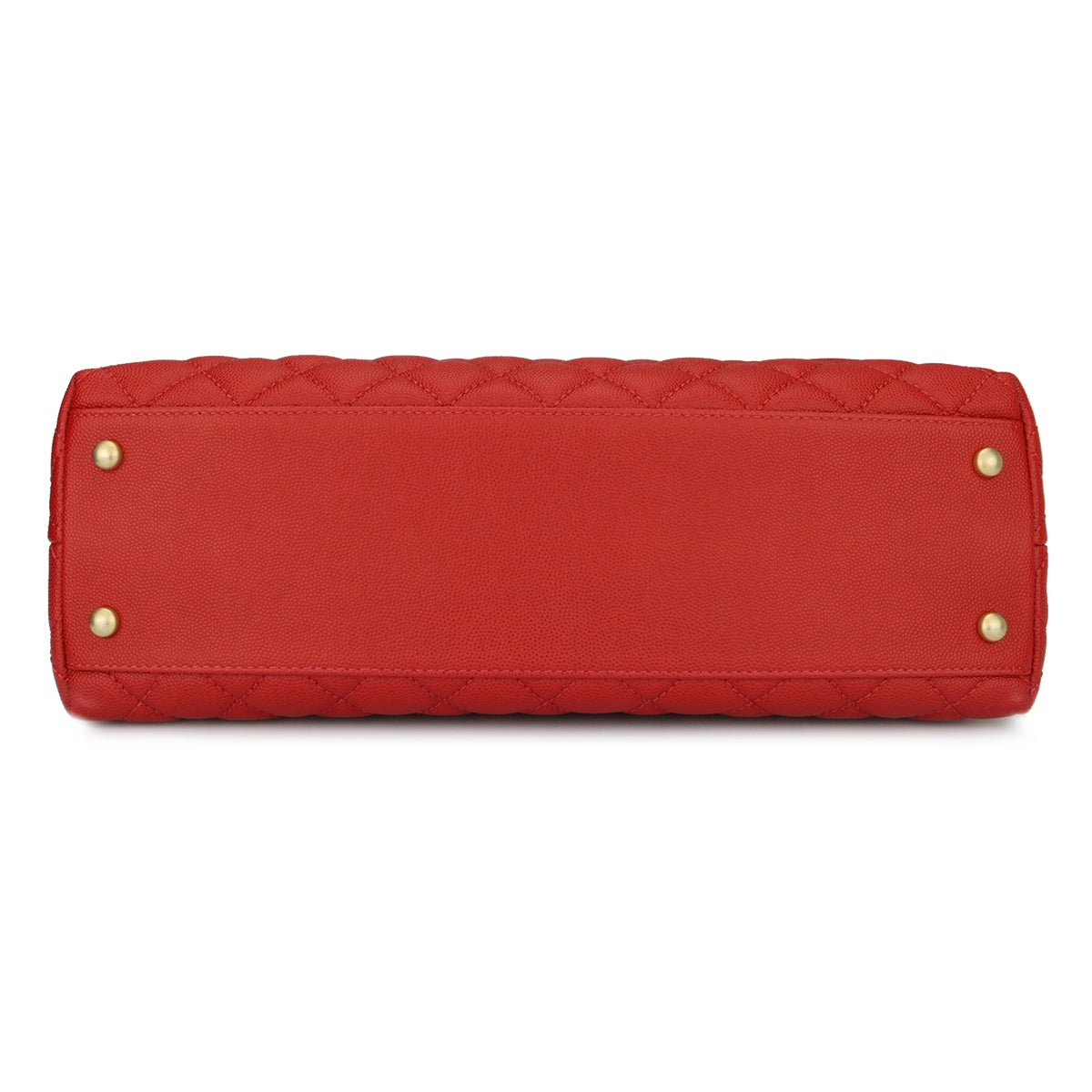 60c0e8b7dae38d Chanel Coco Handle Large Red Caviar bag with Brushed Gold Hardware, 2018 at  1stdibs