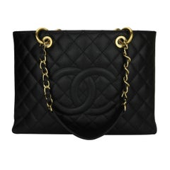 Chanel Black Caviar with Gold Hardware GST Grand Shopping Tote, 2012