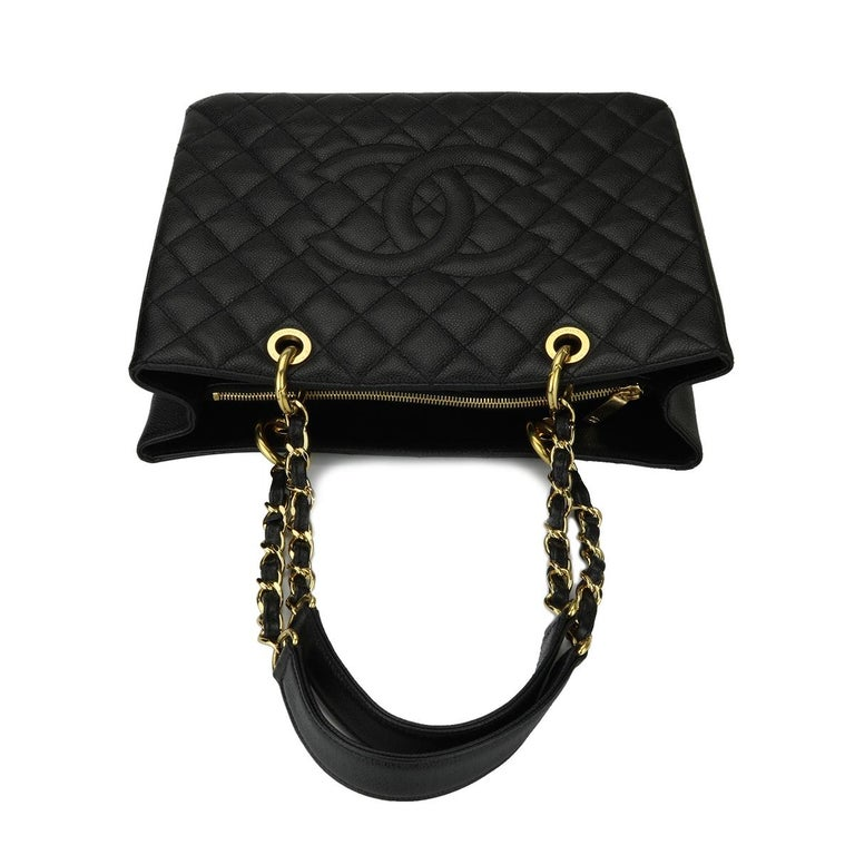 3807a5454dc5 CHANEL Grand Shopping Tote (GST) Black Caviar with Gold Hardware 2012 For  Sale 7