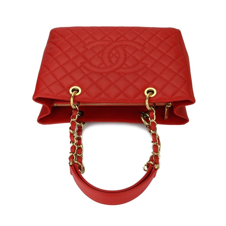 0e59cab58426d9 CHANEL Grand Shopping Tote (GST) Red Caviar with Gold Hardware 2014 For  Sale 7