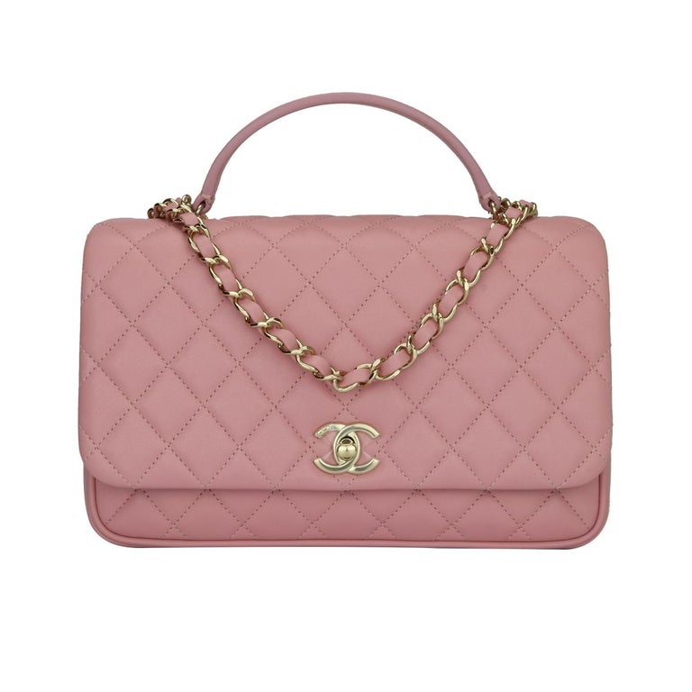 Chanel Citizen Chic Medium Flap Pink Lambskin With Gold