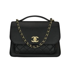 CHANEL Business Affinity Large Black Caviar with Champagne Hardware 2017