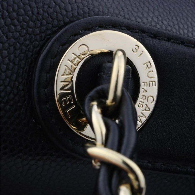 CHANEL Business Affinity Large Black Caviar with Champagne Hardware 2017 For Sale 10