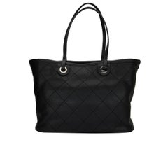 CHANEL Large Tote Black Caviar with Silver Hardware 2014