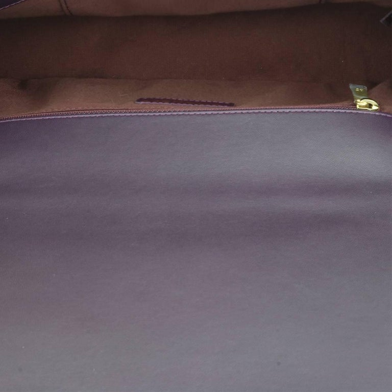 Chanel New Medium Boy Dark Purple Lambskin with Brushed Gold Hardware 2016 For Sale 2