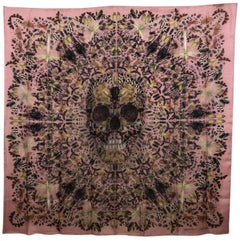 Alexander McQueen and Damien First Limited Edition Silk Judecca Skull Scarf