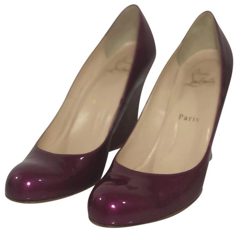 Christian Louboutin Balinodono Flat Patent Wedge in Bright Pink