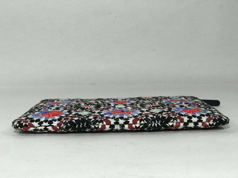 Women's or Men's Chanel Dubai O Clutch Kaleidoscope Floral and Diamond Pattern For Sale