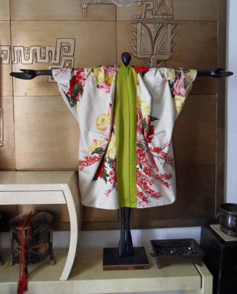 Women's Haute couture ,Kenzo by antonio marras ,dress coat cape , kimono-inspired For Sale