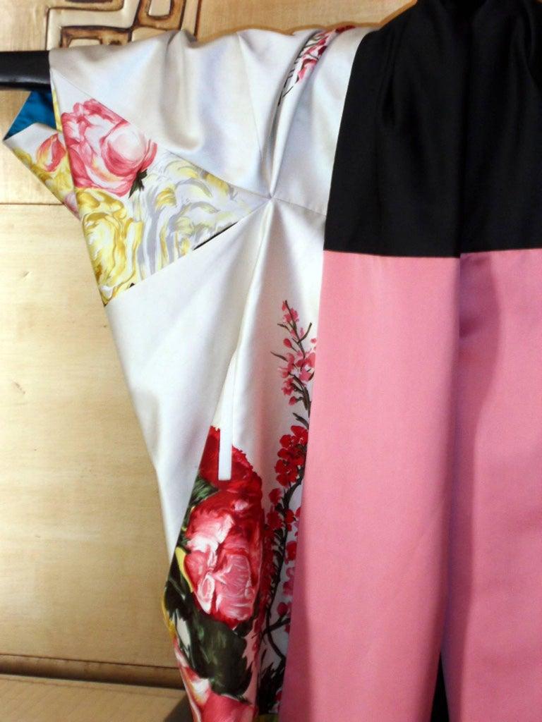 Haute couture ,Kenzo by antonio marras ,dress coat cape , kimono-inspired For Sale 2