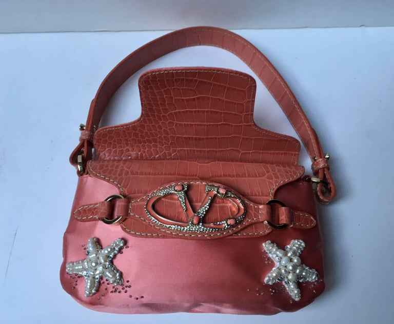Men's Valentino  Haute Couture Silk and leather Evening Handbag  For Sale