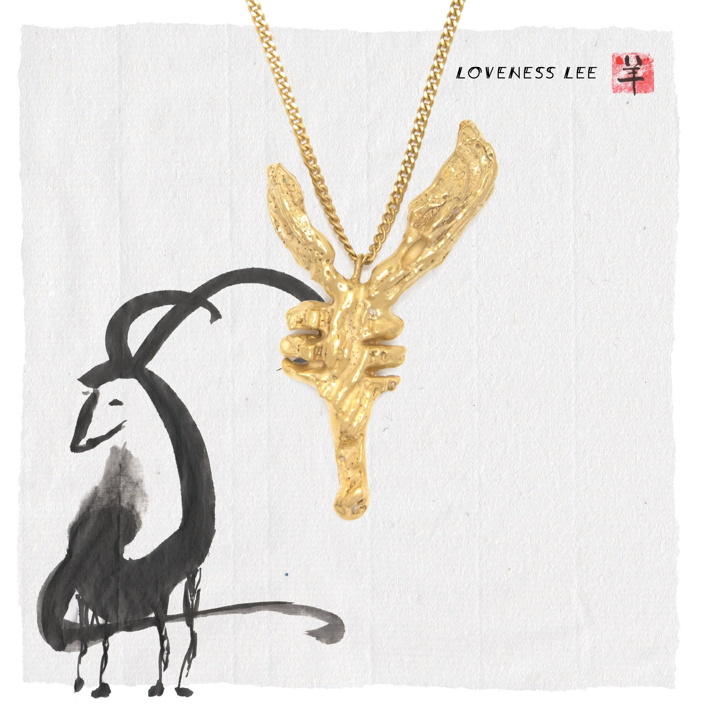 gold chinese rabbit horoscope zodiac pendant necklace uk image lee loveness