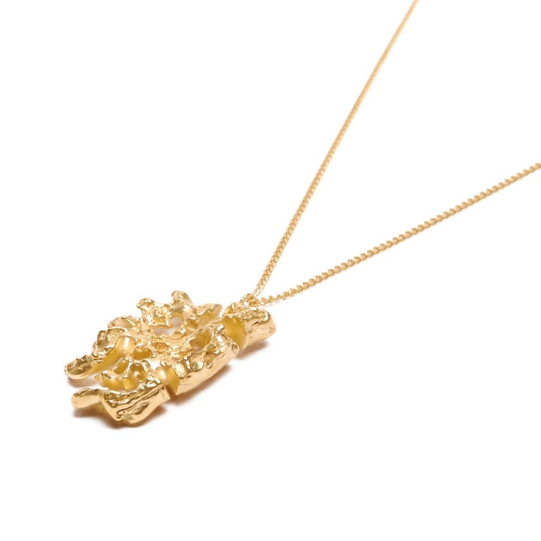 Contemporary Loveness Lee - Chinese Zodiac Dog - Horoscope Gold Pendant Necklace For Sale