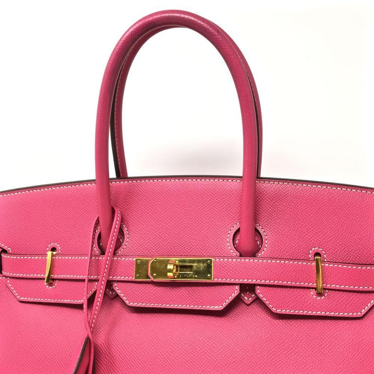 068f44f1f640 Hermès 35 cm Birkin in Rose Tyrien Epsom leather with goldtone hardware.  Handle drop