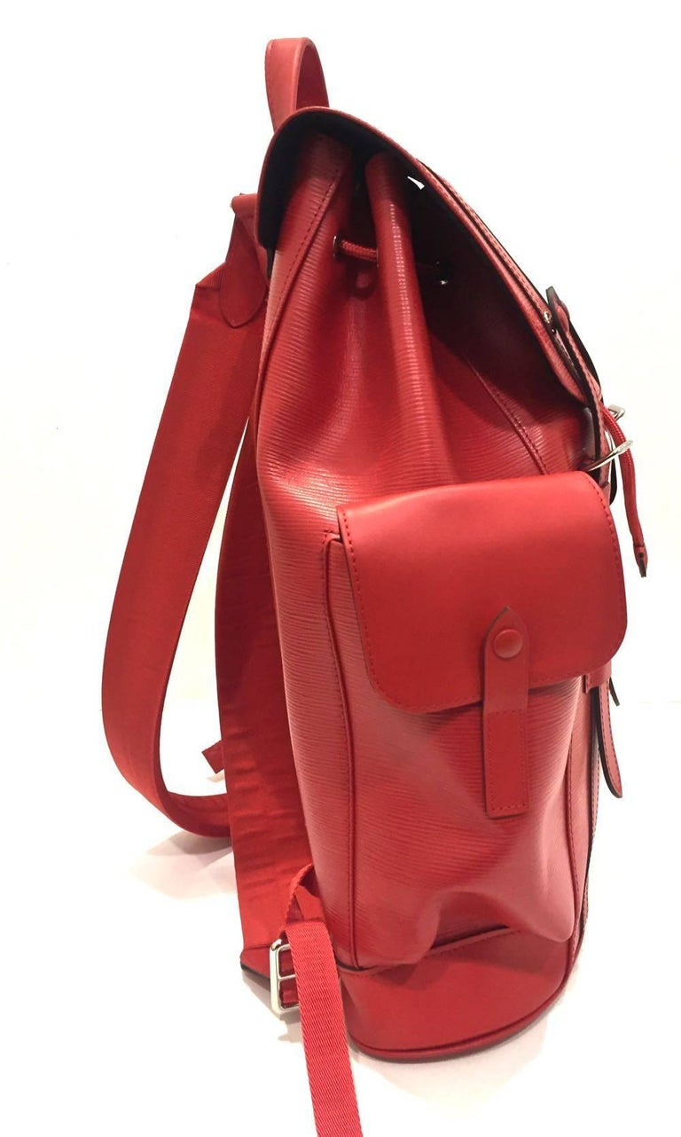 ae45d1bfea8 Replica Louis Vuitton Supreme Backpack In Red And Black
