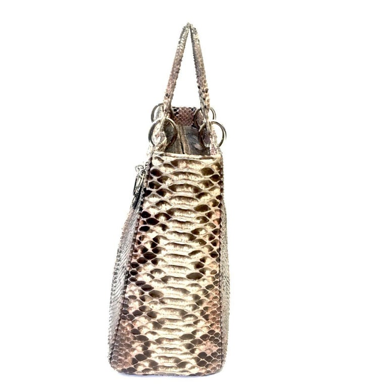 ... so cheap 5d2f2 6fa81 Large Lady Dior Real Python grey and pink  Collection 2011. 565253010d