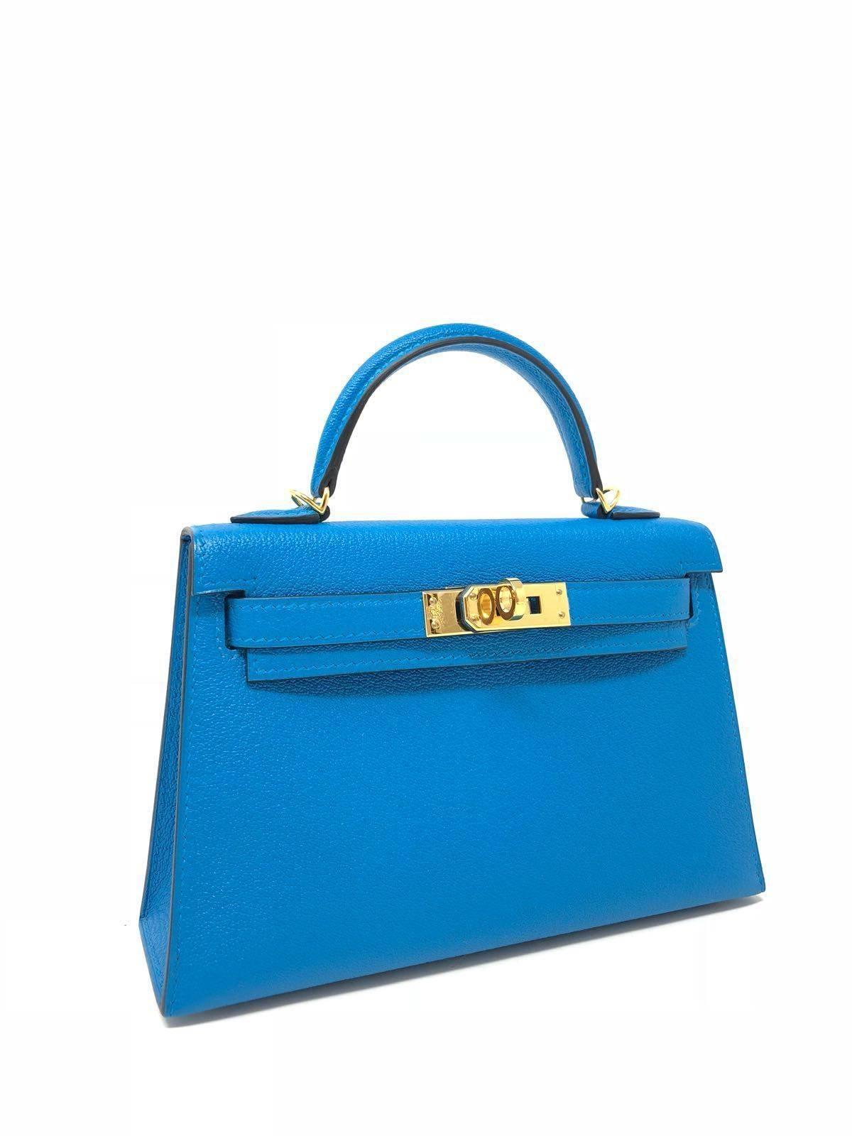 d5d1f4466506 ... buy hermes kelly bag 20 mini kelly ii blue zanzibar chevre leather.  this jewel tone ...