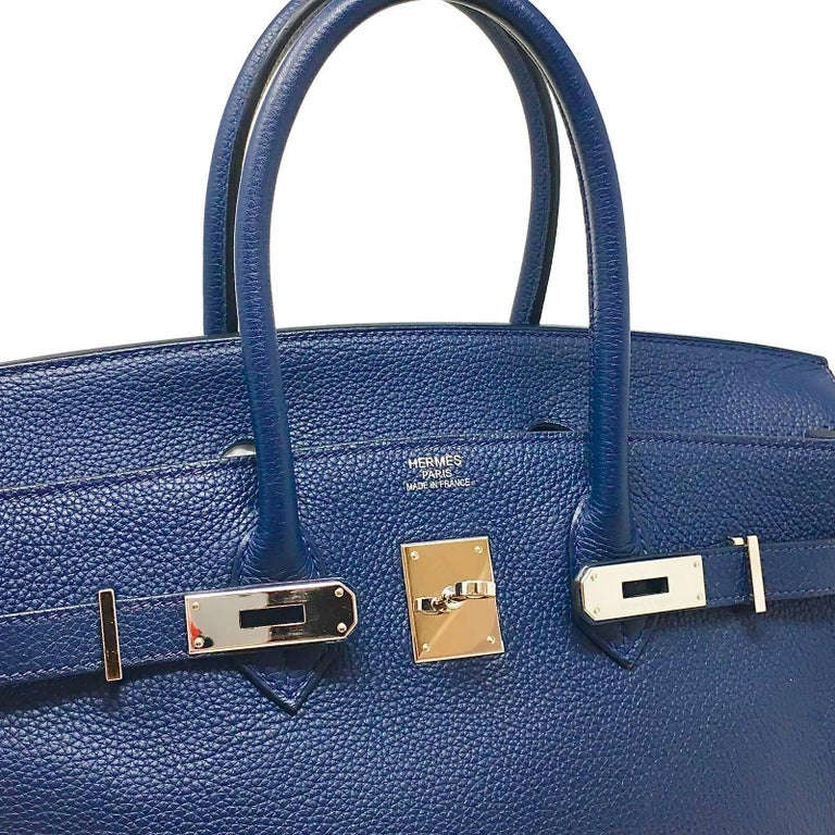 Hermes 35 Cm Prussian Blue Birkin Bag 2009 For 6