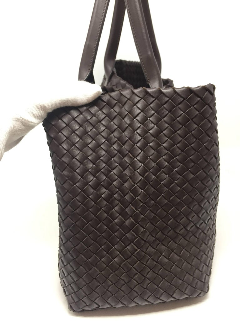 Black Bottega Veneta Cabat Espresso Lambskin Leather Shopping Tote Bag For Sale