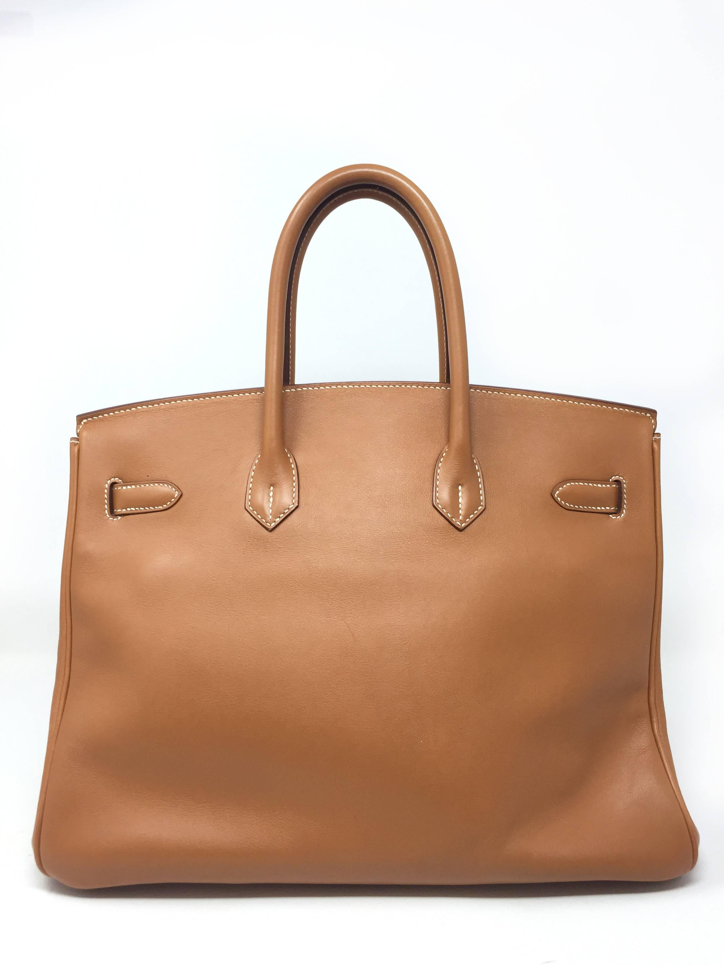 792795144b25 Hermes Paris Sac Birkin 35 Swift Gold Leather Bag, 2008 at 1stdibs