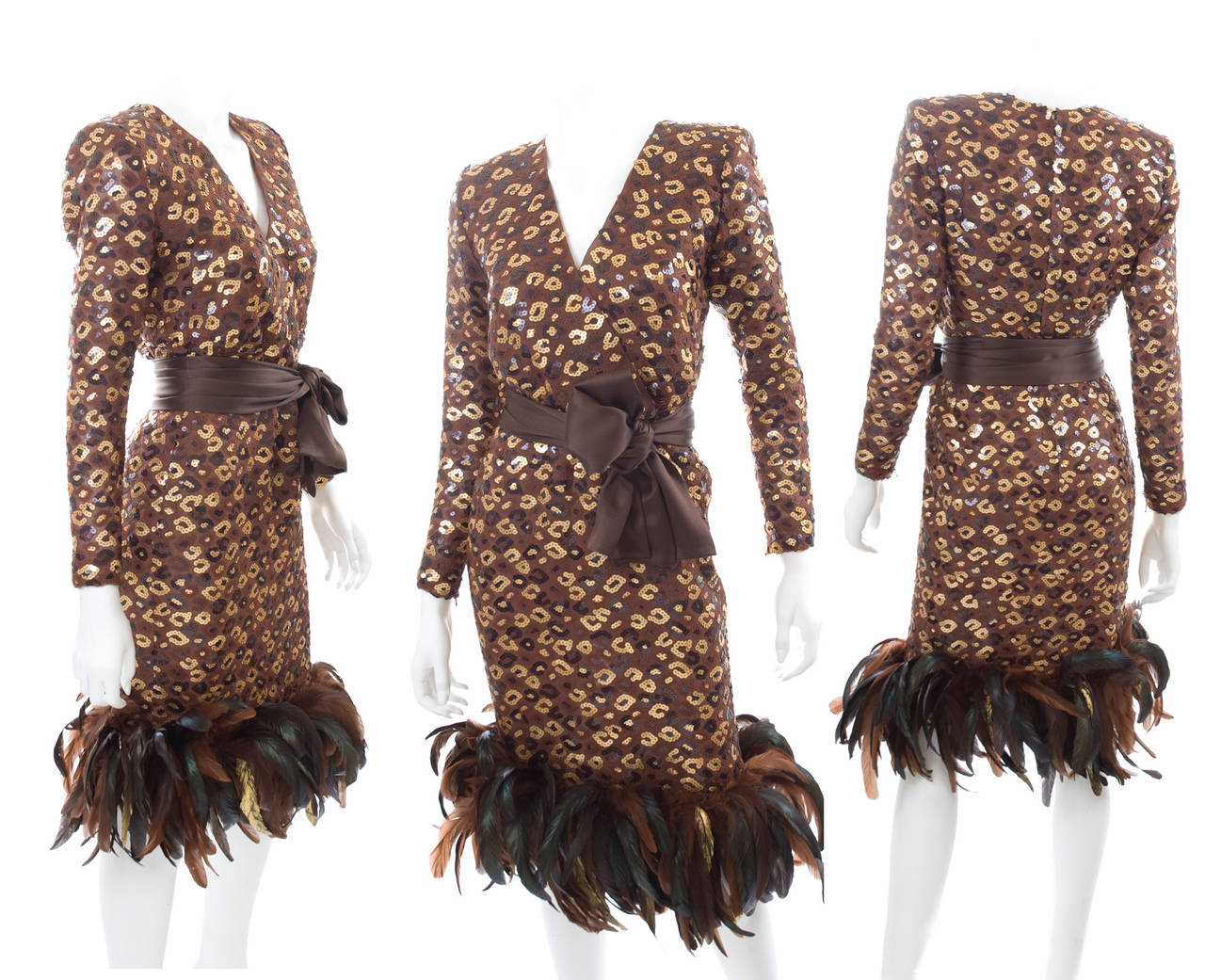 1986 Givenchy Dress with Sequins and Feathers 2